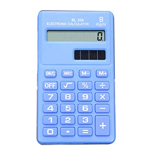 Lsgepavilion Mini-Taschenrechner mit 8 Ziffern, Hellblau - Anzeige Große 8-stellige Taschenrechner
