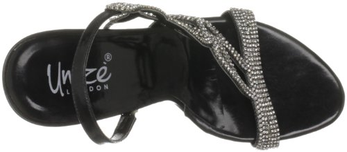 Unze Evening Sandals, Sandali col tacco donna Nero (Schwarz (L18179W))