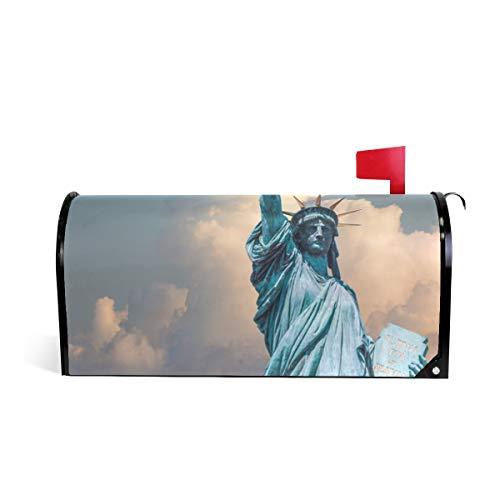 HEOEH US York Statue Liberty Briefkasten-Abdeckung, magnetisch, Übergroß, 63,5 x 5,8 cm 64.7x52.8cm Mehrfarbig
