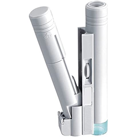 soxid (TM) 100x microscopio de bolsillo ajustable lectura iluminante herramienta lupa con escala lupa de cristal con lupa lámpara de luz LED