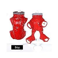 AMURAO Hiver Manteau Chaud pour Les Petits Chiens Puffy imperméable Animal de Compagnie Jumpsuit réfléchissant garçon Fille Chien Neige Combinaison