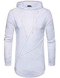 2018 Customized Stylish Autumn Pure Color Joint Long Sleeved Hoodie Sweatshirts Top Blouse Sudadera con Capucha Sudaderas Hombre…
