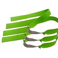 ZSHJG Slingshot Elástico Bandas De Goma Bungee Duraderas Con 6 Cadenas Catapult Caza Sustitución Caza 5 Piezas (verde)