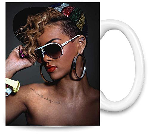 Rihanna Sexy Ohrringe Chris Brown Sexy Earrings Unique Coffee Mug   11Oz Ceramic Cup  The Best Way to Surprise Everyone On Your Special Day  Custom Mugs by