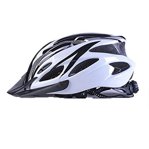 Uzexon Erwachsene Unisex Helme mit 18 Belüftungsöffnungen,Abnehmbarer Visier,Einstellbares Radsystem und Ein weicher Mesh-Liner für Fahrradhelme (Weiß&Schwarz) - 2