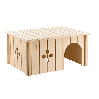 ferplast 84646099 wood home for rabbits, without 4646, 33 x 23.6 x 16 cm Ferplast 84646099 Wood Home for Rabbits, Without 4646, 33 x 23.6 x 16 cm 41mj3X dh4L