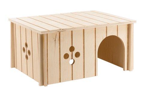 Ferplast 84646099Madera Hogar para Conejos, Sin 4646, 33x 23.6x 16cm
