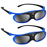 BOBLOV Active Shutter 3D Glasses DLP-Link USB Conpatible For BenQ W1070 W700 Dell