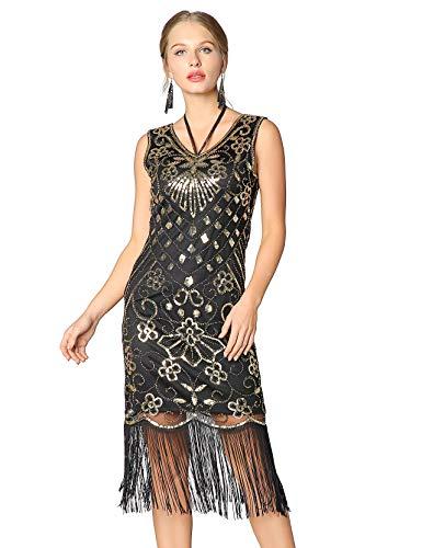 The Kostüm Great Gatsby Designer Für - Metme Damen Charleston Kleid Retro 1920er Stil Flapper Kleider Kurzem Ärmel Gatsby Kleider Cocktail Kostüm Kleid