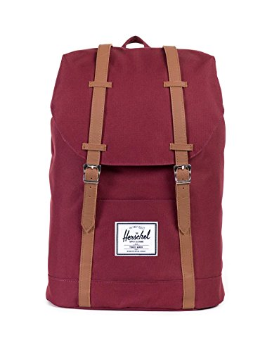 Herschel Classics | Backpacks Sac à Dos Loisir, 46 cm, Windsor Wine/Tan PU 828432065288