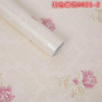 Preisvergleich Produktbild ZCHENG Die Tapete Self Adhesive 10M 60W A Solid Color Schlafzimmer Cozy Dorm Korean Anti-Romantik,  Marine 45W 10M Rosa Lotus-Blumen,  Large660242