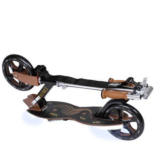 Physionics SCOOT-L - Patinete con luz Crazytown (beige-black) /  LED-Light: white