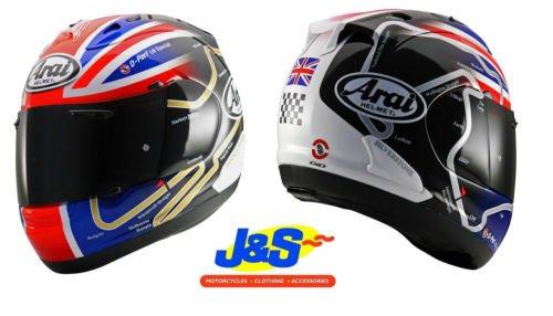 ARAI RX7 GP HASLAM WSBK MOTORCYCLE HELMET MOTORBIKE TRACK DAYS RACING SNELL J&S (SMALL S 56 CMS)