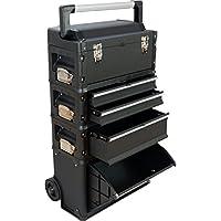 Metall Werkzeugtrolley XXL Type C1-B BLACK EDITION mit Schubladenverriegelung und Schloss von AS-S