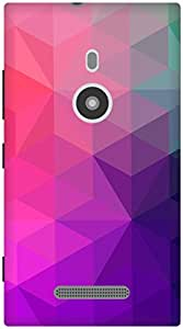 The Racoon Lean Purple Crystal Stars hard plastic printed back case / cover for Nokia Lumia 925