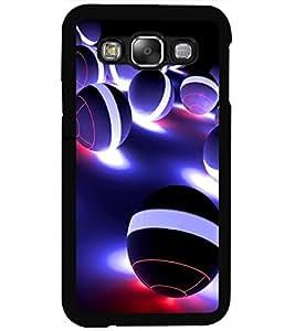 ColourCraft Digital Balls Design Back Case Cover for SAMSUNG GALAXY E5