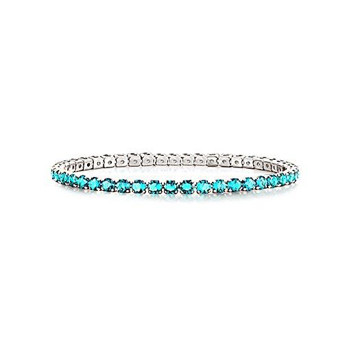 AKKi jewelry Damen Armband Versilbert Strass Armreif Armkette Schmale Dünne Glitzer Kinder Bänder 3mm Wert #6 (Armbänder Dünne Gold Armreifen)