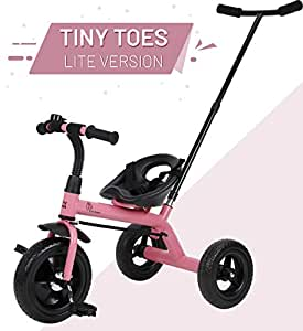 R for Rabbit Tiny Toes Lite Baby Tricycle with Parental Control Smart Plug and Play Tricycle for Kids|Boys|Girls of 1.5 Years to 5 Years (Pink)