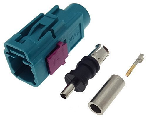 Crimp Buchse FAKRA Female Antenne Antennenstecker RG174 Stecker Reparatur SET