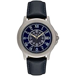 NEO watch BLUE ROMANCE - Classic Quartz Watch - Ladies Analogue Wristwatch - 35mm diameter - Blue dial - Leather strap - N5-014