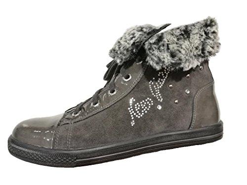 Nero Giardini Junior , Mädchen Sneaker Kohle