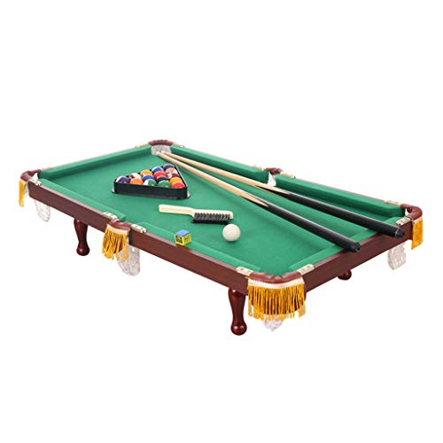 illard Billardtisch Kinderheim Indoor Mini Spielzeug Ball Tisch American Black 8 Standard Snooker Fancy Billard Baby Pool Billard (Color : Green, Size : 92 * 52 * 30cm) ()