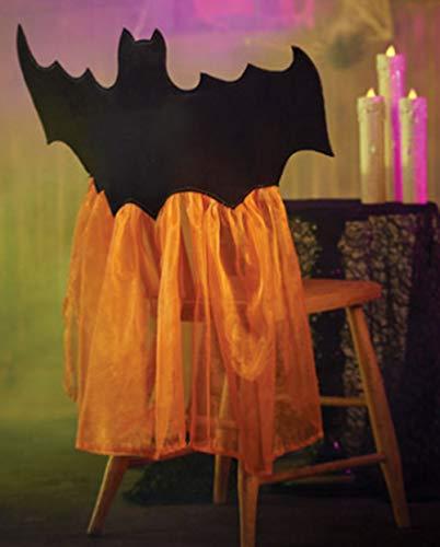 Improvements Halloween Orange Tüll Fledermaus Stuhlhussen 2er Set für Party Veranstaltungen (Halloween-party Home Improvement)
