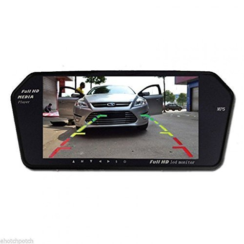 On Trade DOT Full HD LED Reverse Parking Screen with Bluetooth, MP5 SD Card, USB and Parking Camera (Black)