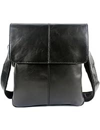 stepack marca piel auténtica bolso de mano moda bolsa de mensajero bolso de hombro para hombres