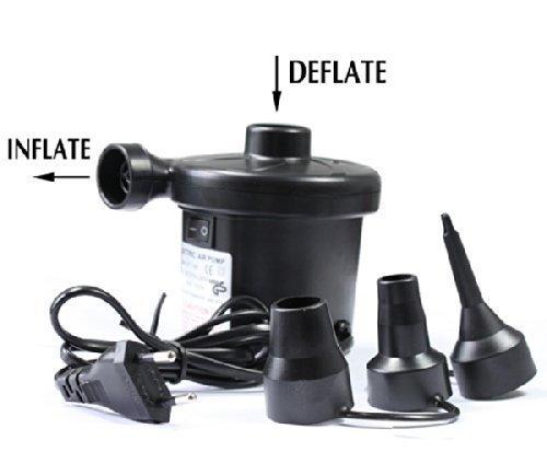 Dishan AC Eletric Vaccum Air Pump - Quickly Inflates/Deflates Sofa, Bed, Swimming Pool Tubes, Toys,Air Bags, Mattresses