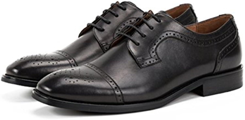 LYZGF Männer British Booties Mode Lässig Jugend Schnürsenkel Lederstiefel