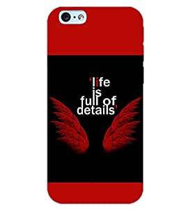 PrintDhaba QUOTE D-6982 Back Case Cover for APPLE IPHONE 6S (Multi-Coloured)