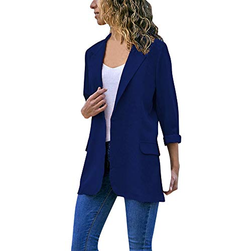 Kinlene Damen Mode Frauen Langarm Strickjacken Einfarbig Mantel Open Front Jacken