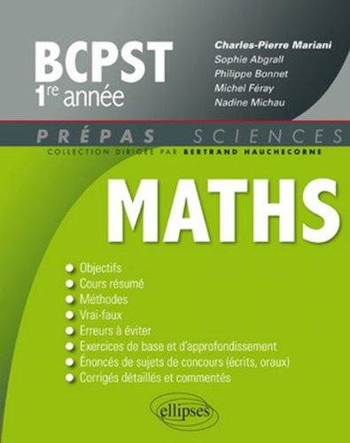 Mathematiques Bcpst Première Annee