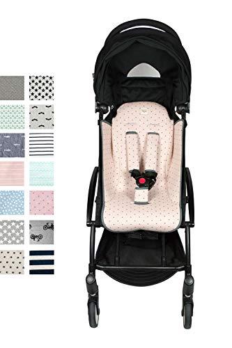 Fundas BCN® F191/4597 - Colchoneta para BabyZen Yoyo + Cubre Arneses - Estampado Little Fun Peach