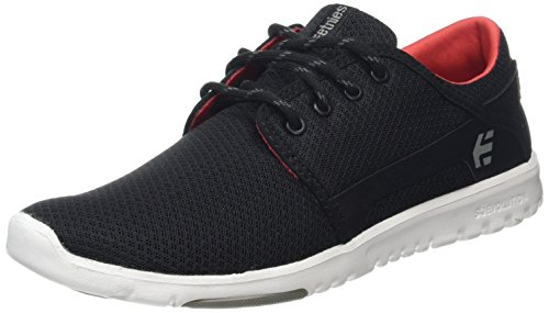 Etnies Herren Scout Skateboardschuhe, Black (Black/Grey/Red576), 43 EU (Schuh Skateboard Red)