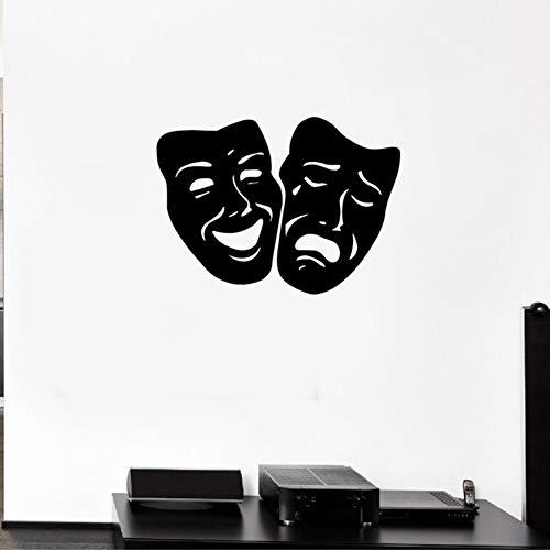 Komödie Masken - LovelyHomeWJ Wandtattoo Maske Tragödie Und Komödie