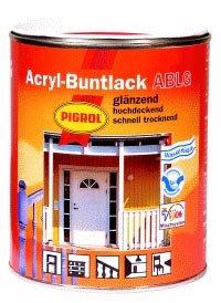 PIGROL Acryl-Buntlack ABLG - glänzend - 2,5 Ltr. (reinweiß (RAL 9010))