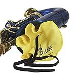 Shanyaid Délicat et Compact Kit d'entretien pour Nettoyage de Saxophone 9 en 1, Brosse pour Embout en Tissu Propre Jeu de Mini Tournevis pour Ceinture de Graisse en liège (Couleur: Jaune)