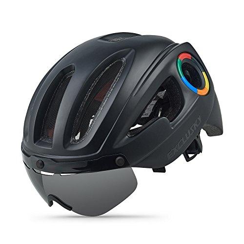 Exclusky Casco de Ciclismo en ruta para adultos 54-58cm (negro mate)