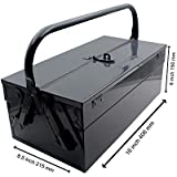 Khadija Metal 3 Compartment Tool Box