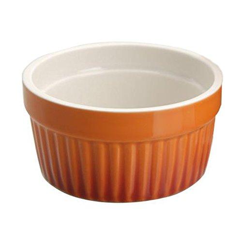 Ragoutfin Schale Creme brulee Auflaufschale, Keramik, Ø ca. 9 cm, orange, 1 Stück
