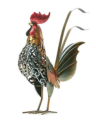 Amoy-Art Hahn Hahne Hen Rooster Dekoration Skulptur Wohnkultur Kunst Kunsthandwerk Dekorative Tierfigur Statue Home Deco Animal Arts Crafts Decorative 40cmH -