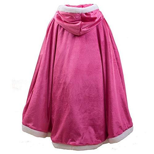 ween-Kostüme Umhang mit Kapuze für Prinzessin ELSA Anna Belle Rapunzel Party Cosplay Outfit Winter Bademantel Jacke ()