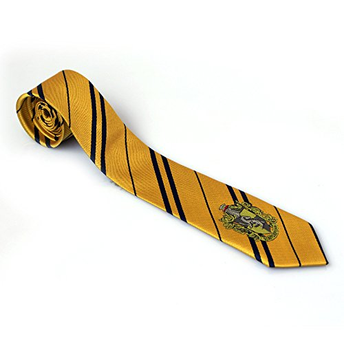 Multiculture Harry Krawatte Gryffindor Ravenclaw Hufflepuff Slytherin Kostüm (Hufflepuff-Gelb)