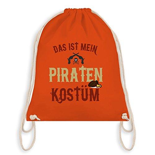 Karneval & Fasching - Das ist mein Piraten Kostüm - Turnbeutel I Gym Bag Orange