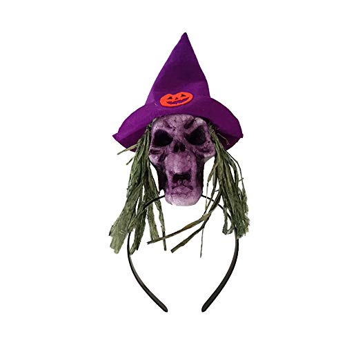 Lehrer Für Kostüm Kreative - YXYXN Halloween Stirnbänder, Halloween Hexe Schädel Stirnband Maskerade Party Requisiten Halloween Kostüm Zubehör Halloween Party Dekoration, 2 STK,Purple
