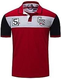 Gnaixeh Polos De Manga Corta De Algodón Hombres Camisetas De Golf  Vuelta-Ahogó Camisetas De 1bab2ca9c41be