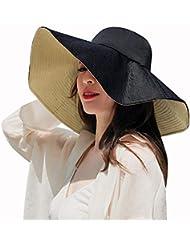 584406c5aa3fa Sombrero De Pescador Mujer Verano Negro Caqui Bañador De Doble Cara Usable Sombrero  Japonés Sombrero Sombrilla