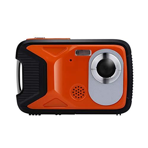 Kamera Camcorder HD-Bildschirm Digitalkamera wasserdichte Digitalkamera Unterwasseraufnahme 21 MP-Videorecorder 1080P Selfie DV-Aufzeichnung digitaler Zoom Video- Digitalkamera (Orange) Video-aufzeichnung Dv-uhr